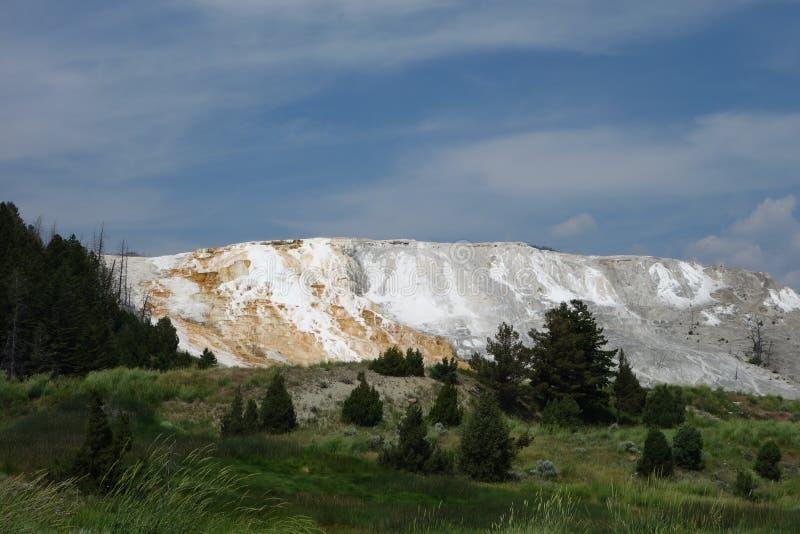 Mamutowa gorąca wiosna przy Yellowstone obrazy stock