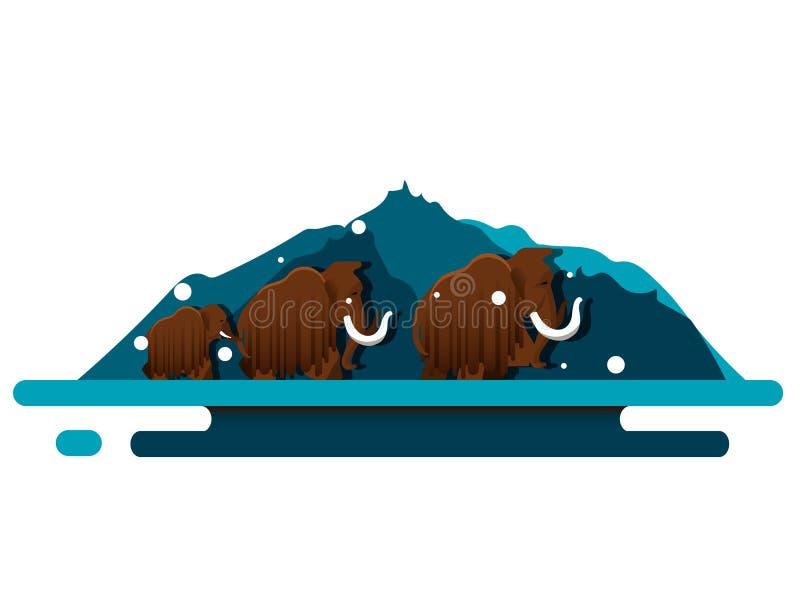 Mamutowy wektor royalty ilustracja