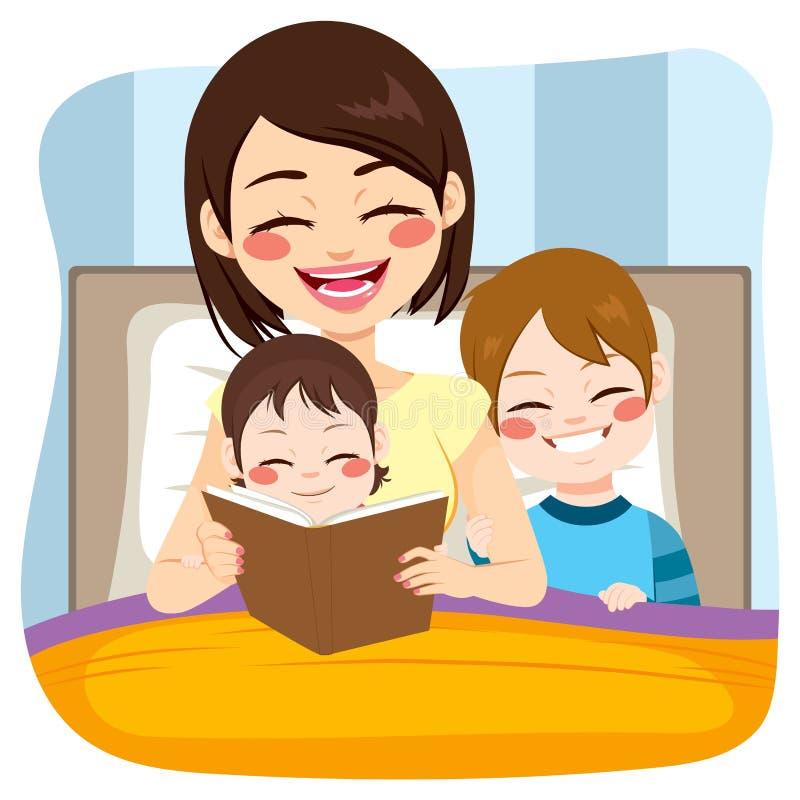 Mamy czytanie Z dzieciakami royalty ilustracja