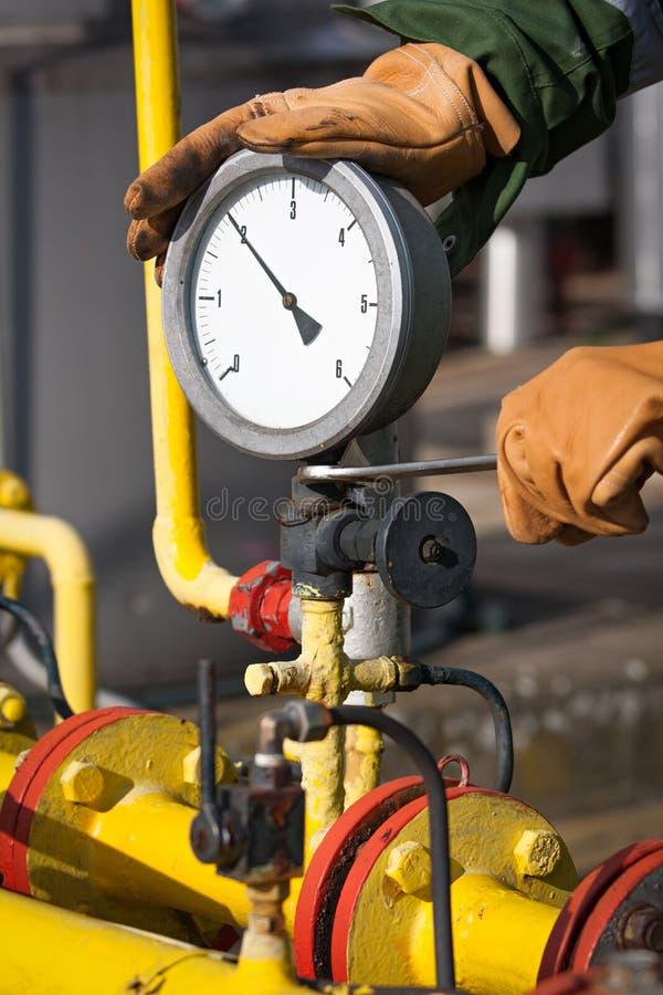 Manómetro de gás foto de stock