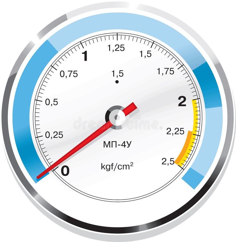Manómetro de gás do vetor isolado ilustração do vetor