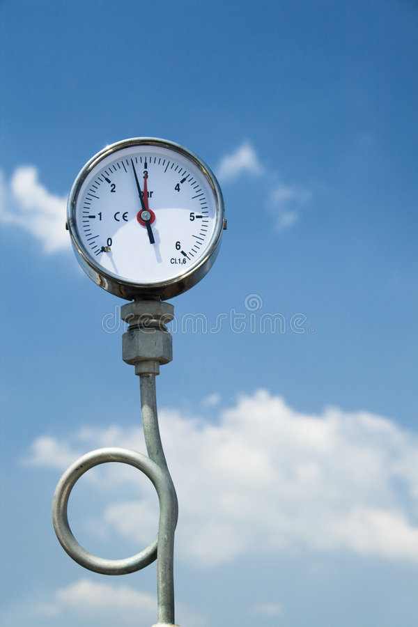 Manómetro de la presión de gas fotos de archivo libres de regalías