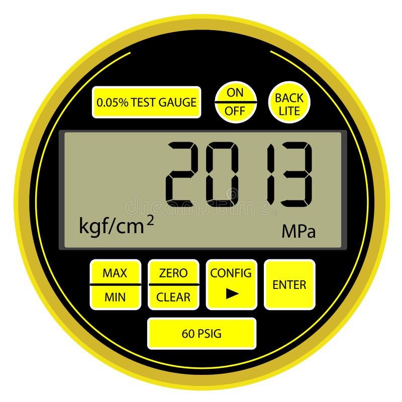 Manómetro digital moderno do ano 2013 novo ilustração do vetor