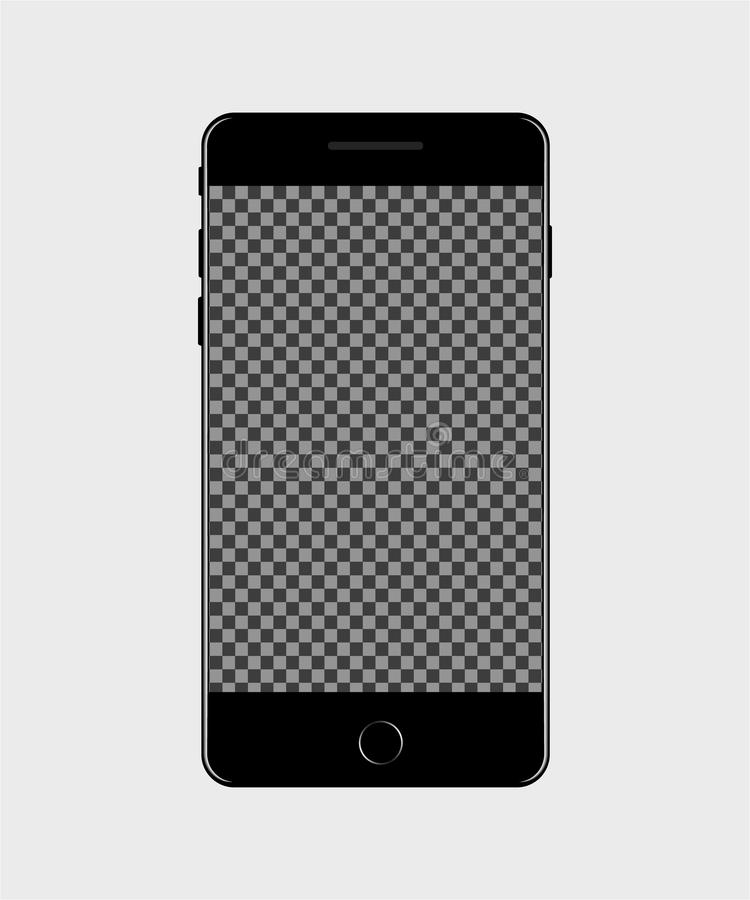Manöverenhet av mobiltelefonskärmen i modellstil Mobil symbol för socialt massmedia vektor vektor illustrationer
