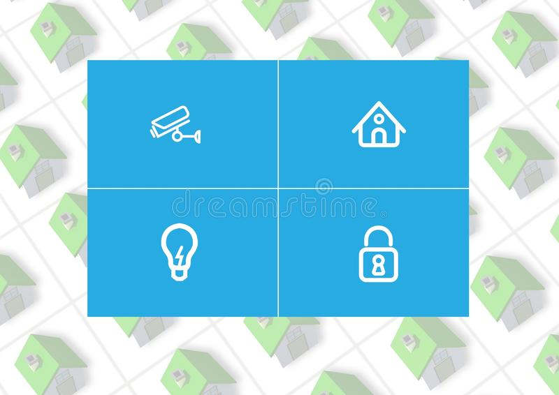 Manöverenhet för system App för hem- automation stock illustrationer