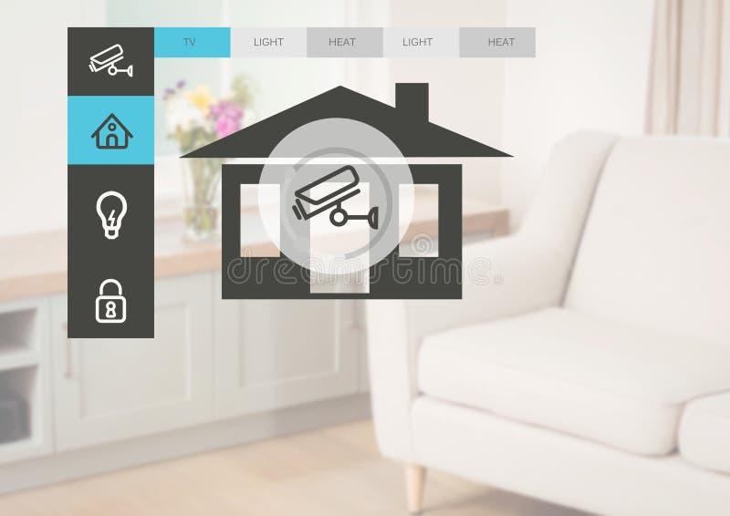 Manöverenhet för system App för hem- automation royaltyfri illustrationer