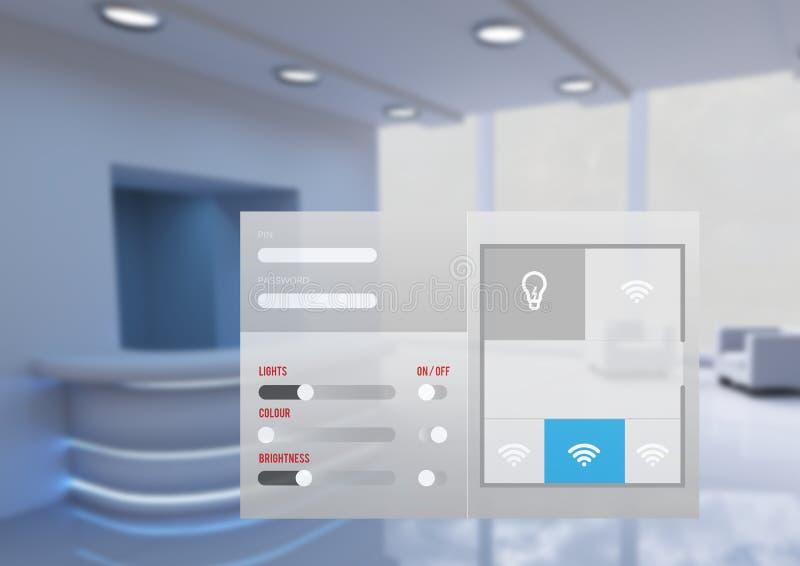 Manöverenhet för system för kontorsautomation App royaltyfri illustrationer