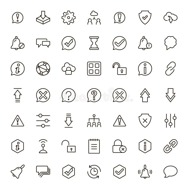 Manöverenhetssymbolsuppsättning stock illustrationer