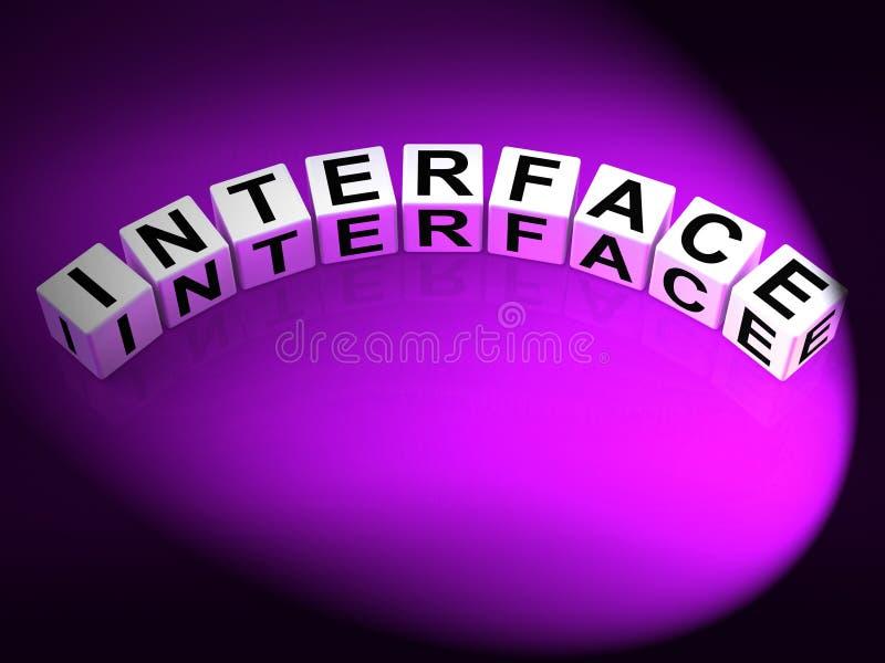 Manöverenhetstärningen föreställer att integrera nätverkande och att ha kontakt royaltyfri illustrationer