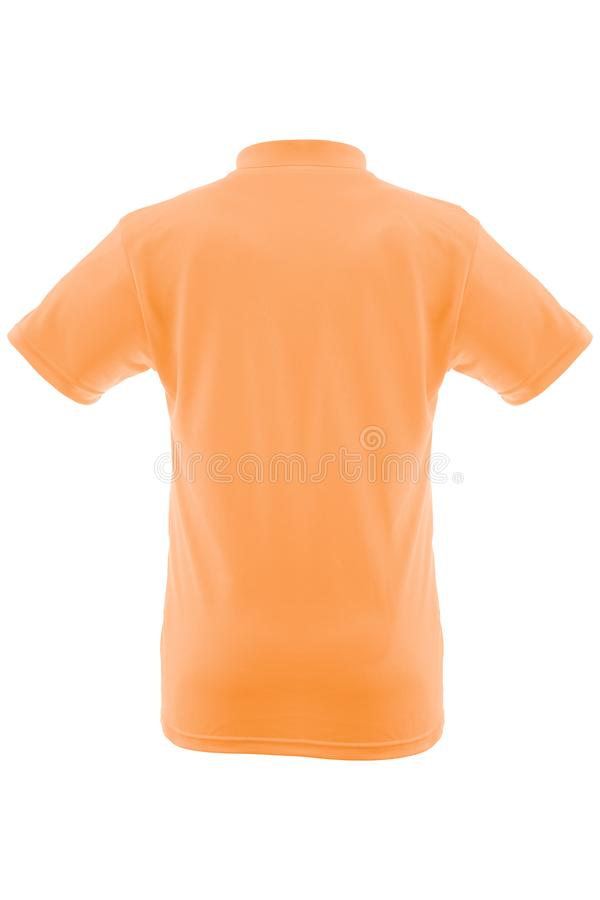 man& x27的模板的大模型; 在白色背景的s T恤杉 库存图片