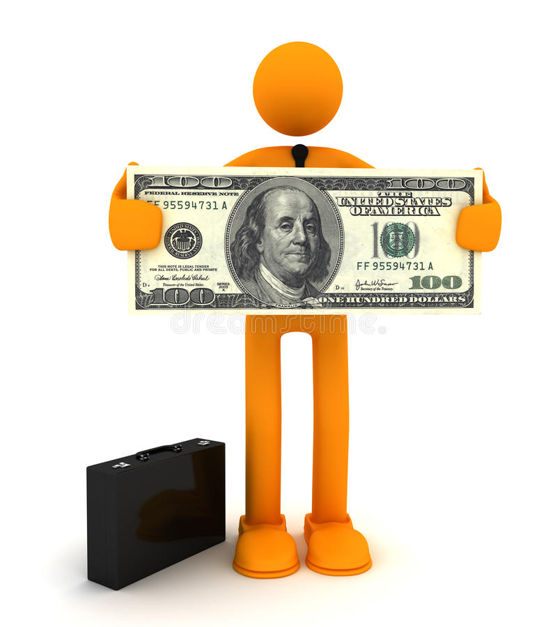 Download Man and 100 dollar stock illustration. Image of finances - 17543084