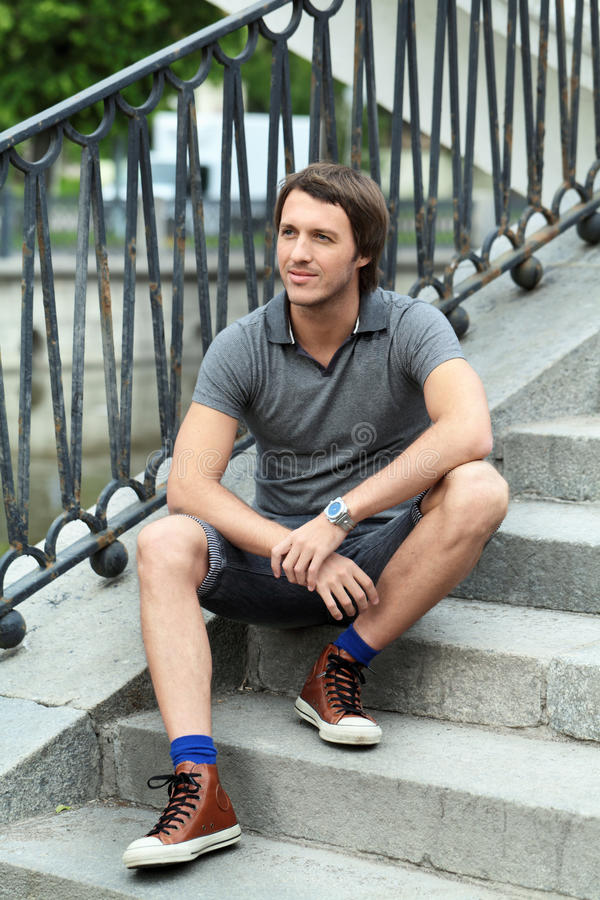 Download Man stock photo. Image of bloke, person, banisters, outdoor - 25467992