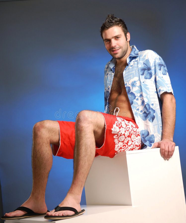 Download A man stock photo. Image of portrait, shirt, bermudas - 3368652