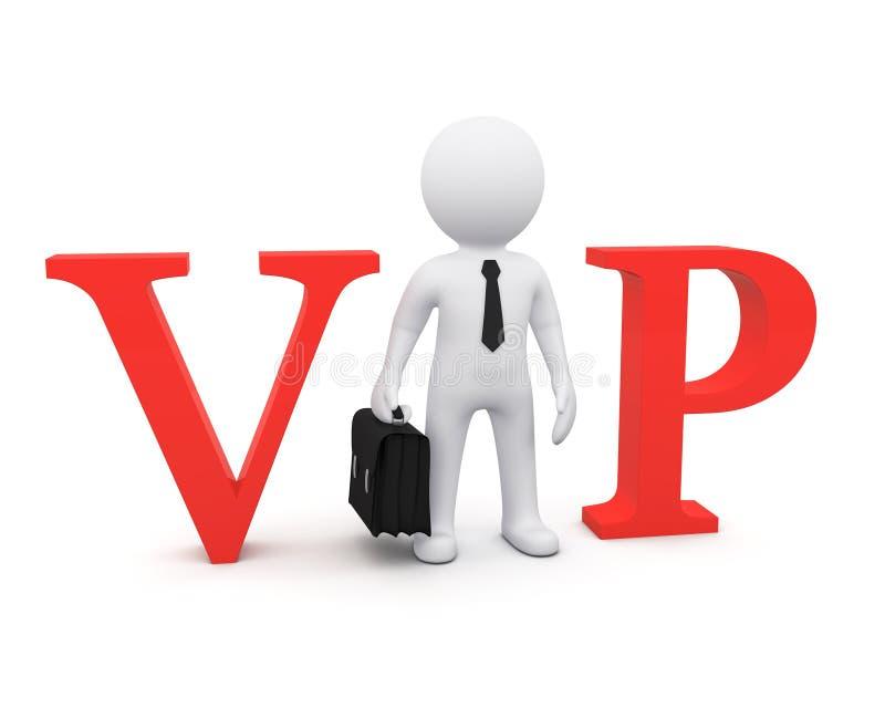 man 3D som VIP-person vektor illustrationer