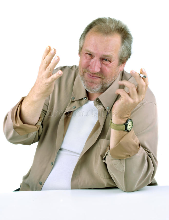 Download Man In The 50s With A Hand Gesturing Stock Image - Image of confident, asking: 21376151