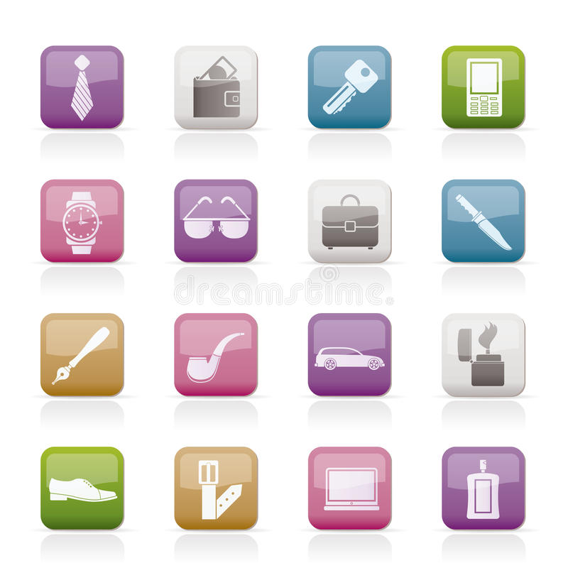 Download Man Accessories Icons And Objects Stock Vector - Image: 18908022