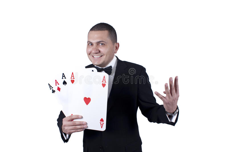Man with aces