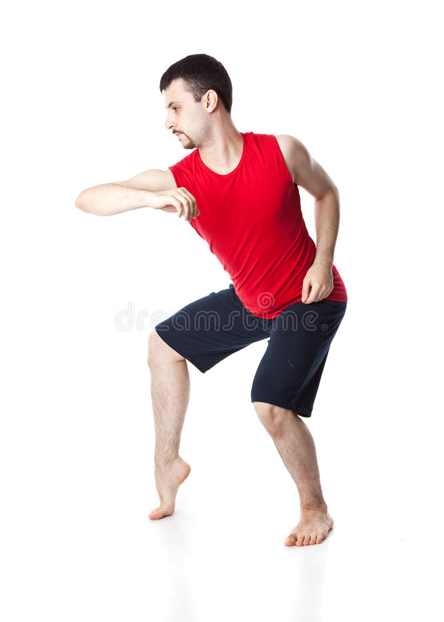 Man Is An Acrobat Stock Images