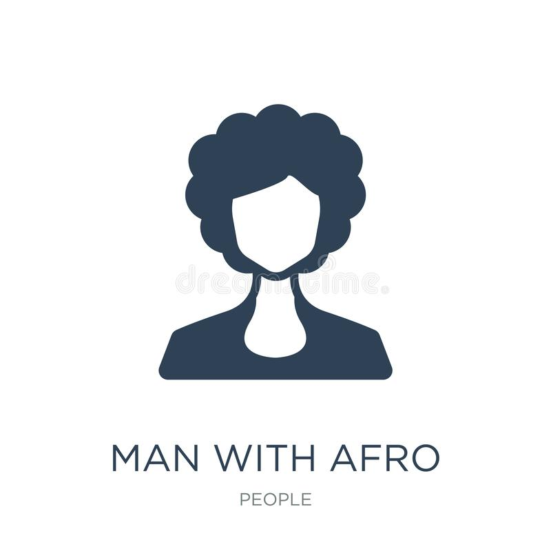 man with afro hair style icon in trendy design style. man with afro hair style icon isolated on white background. man with afro stock illustration