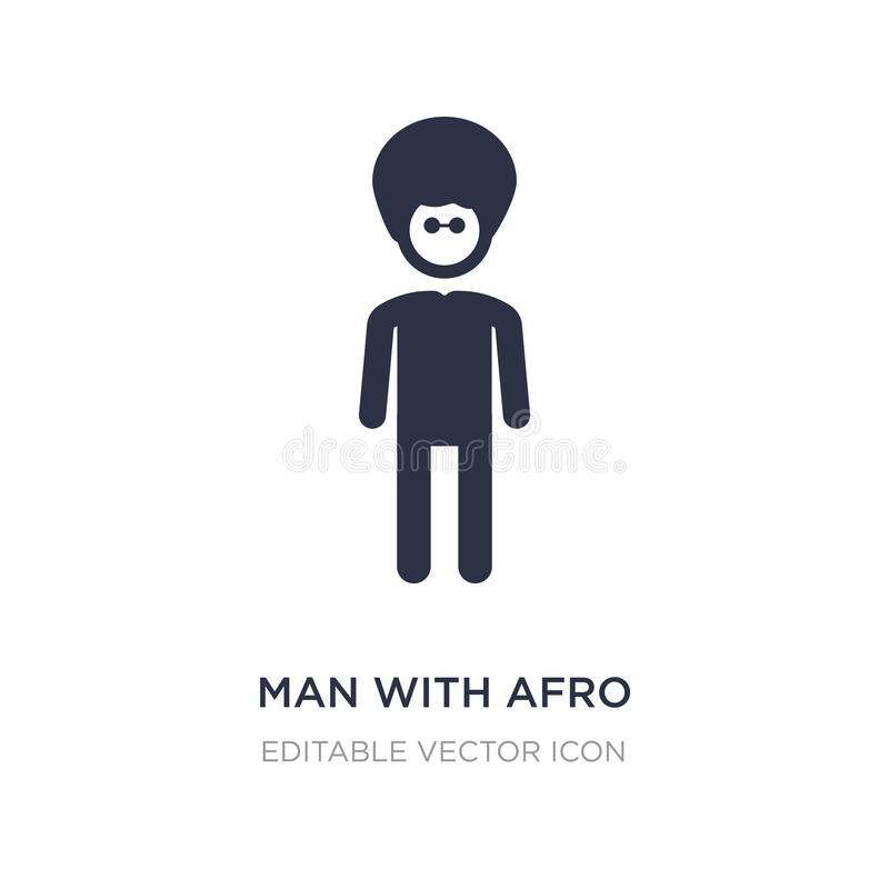 man with afro hair style icon on white background. Simple element illustration from People concept royalty free illustration