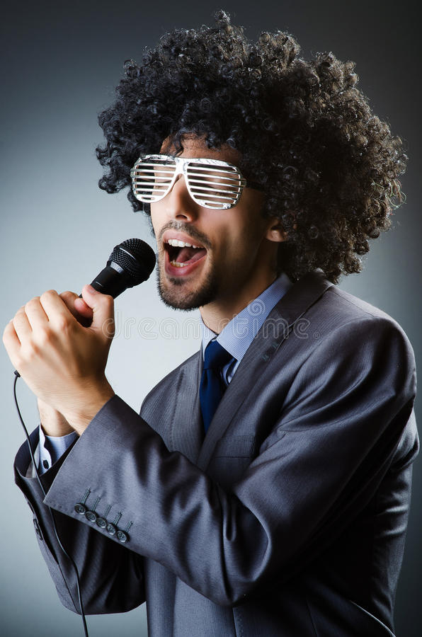 Man With Afro Haircut Royalty Free Stock Photos
