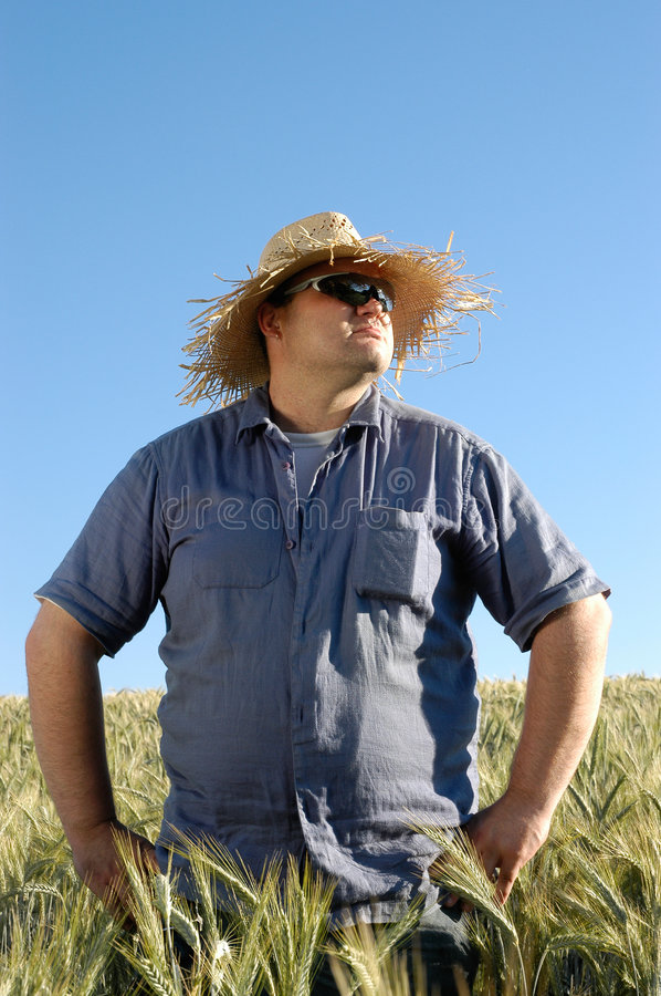 Man against blue sky royalty free stock image