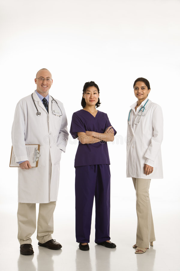 Free Man And Women Doctors. Royalty Free Stock Photo - 2426005