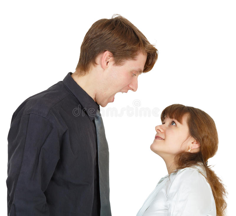 Download Man Angrily Shouted At Woman Stock Image - Image: 15010369