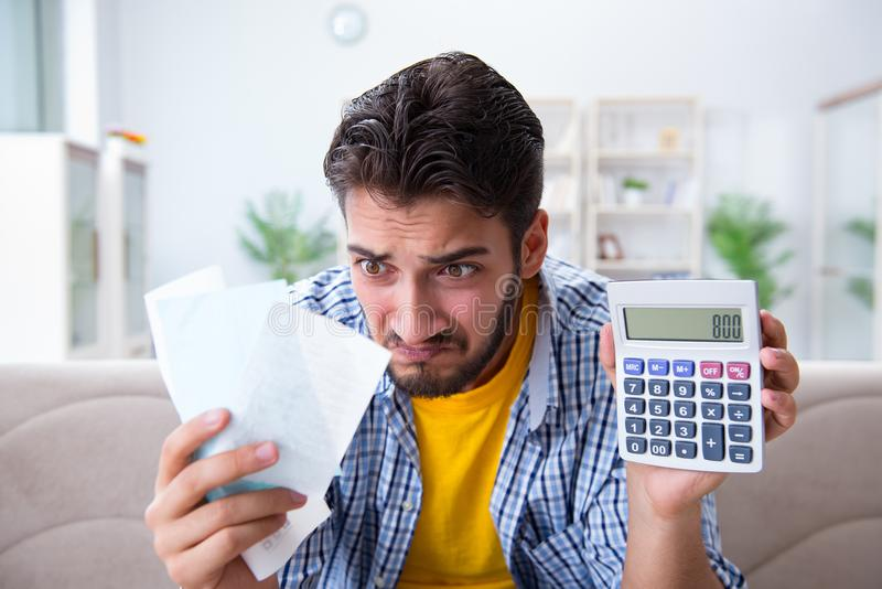 Download The Man Angry At Bills He Needs To Pay Stock Image - Image of budget, bill: 117975839