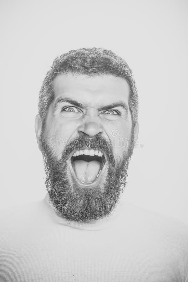 Man with angry face. royalty free stock images