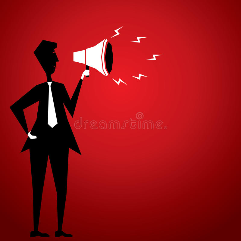 Download Man Announce With Loudspeaker Stock Vector - Image: 29570333