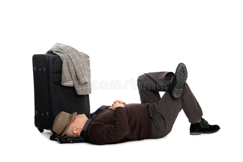 Download Man In Anticipation Of Landing The Plane Stock Image - Image: 22692609
