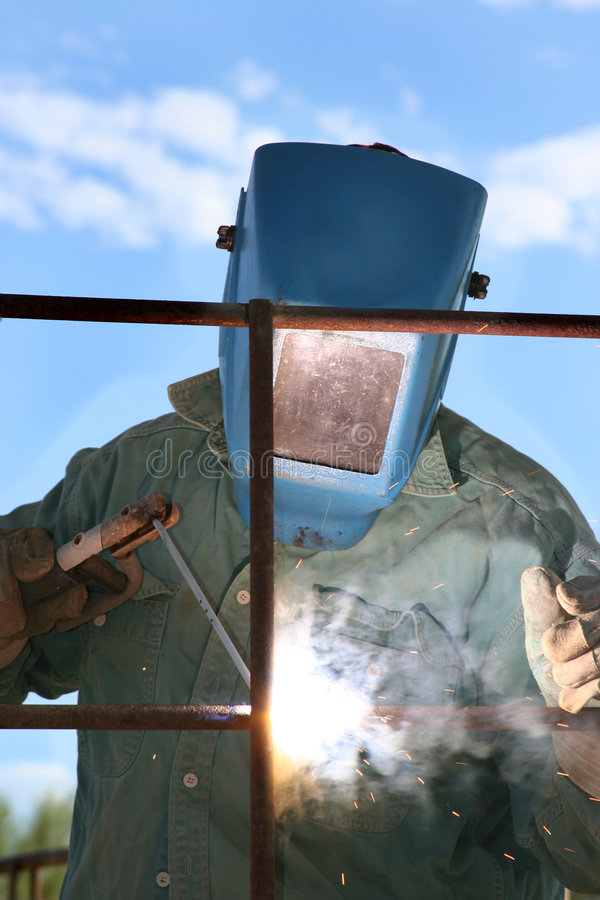 Man Arc welder royalty free stock images