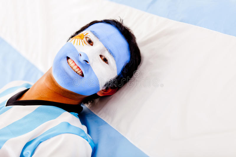 Man with Argentinean flag