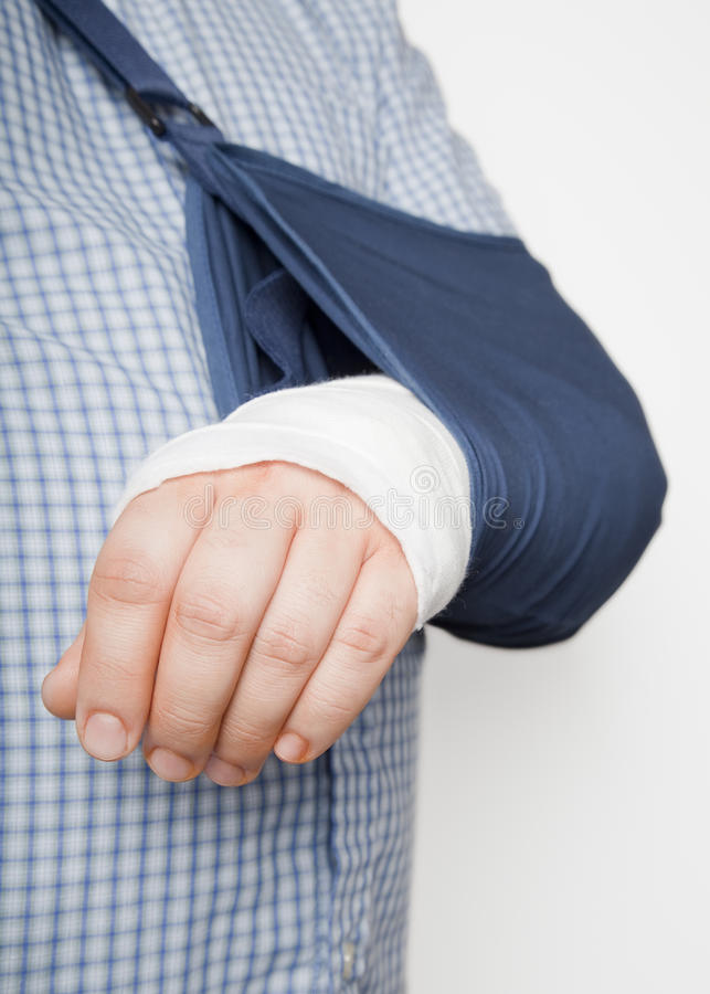 Download Man With Arm In Sling Royalty Free Stock Photos - Image: 18091458