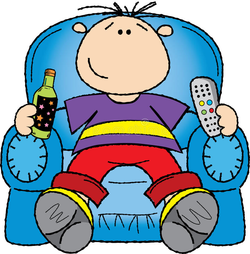 Man In Armchair Stock Photography