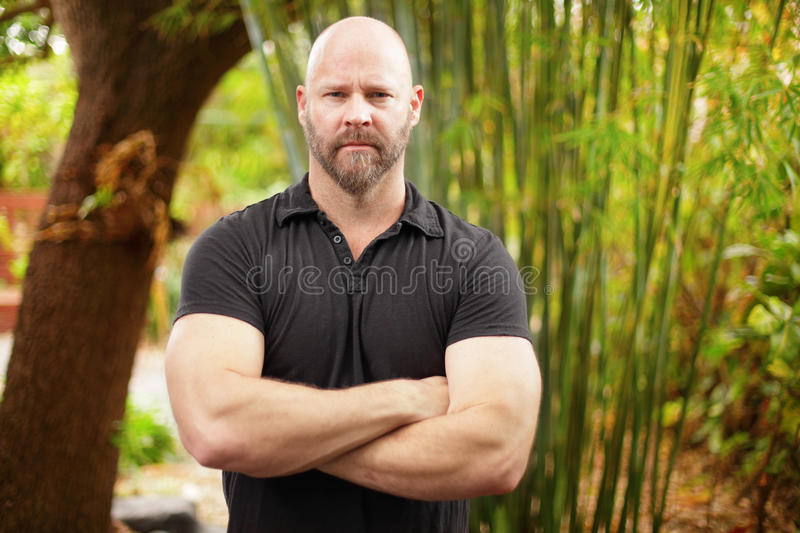 Download Man with arms crossed stock photo. Image of angry, muscles - 25146368