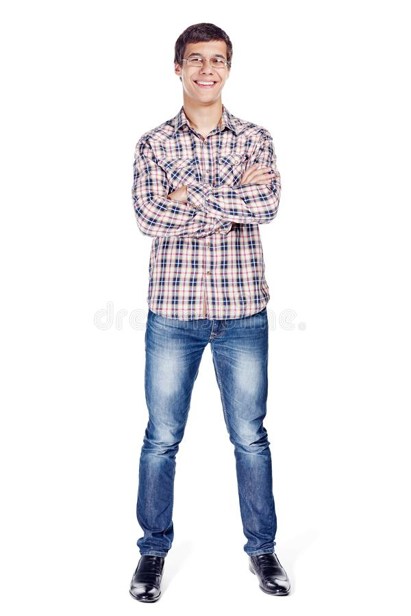 Man with arms crossed full body royalty free stock photos