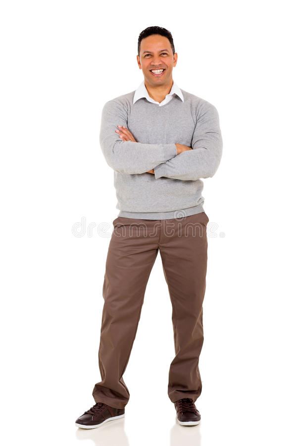 Man arms crossed royalty free stock photo