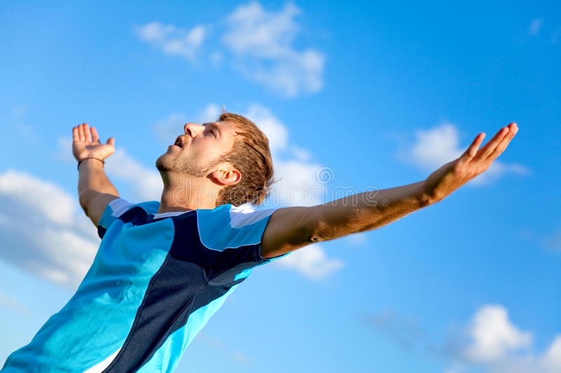 Download Man with arms open stock image. Image of outdoors, people - 16137617