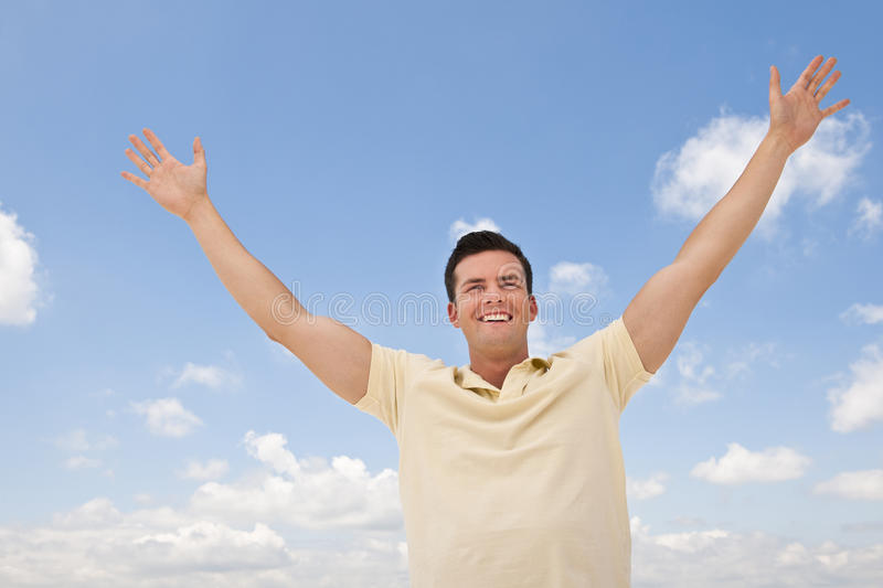 Download Man With Arms Outstretched stock image. Image of smile - 10545451