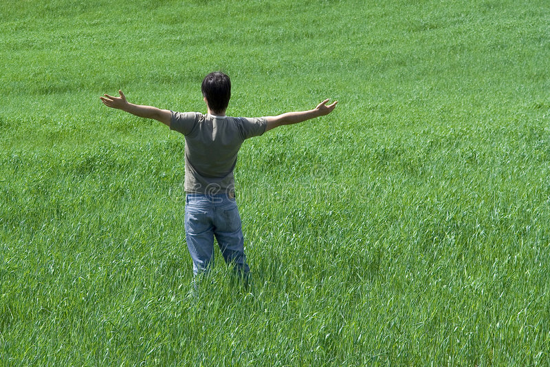 Download Man with arms wide open stock image. Image of fresh, alone - 2877889