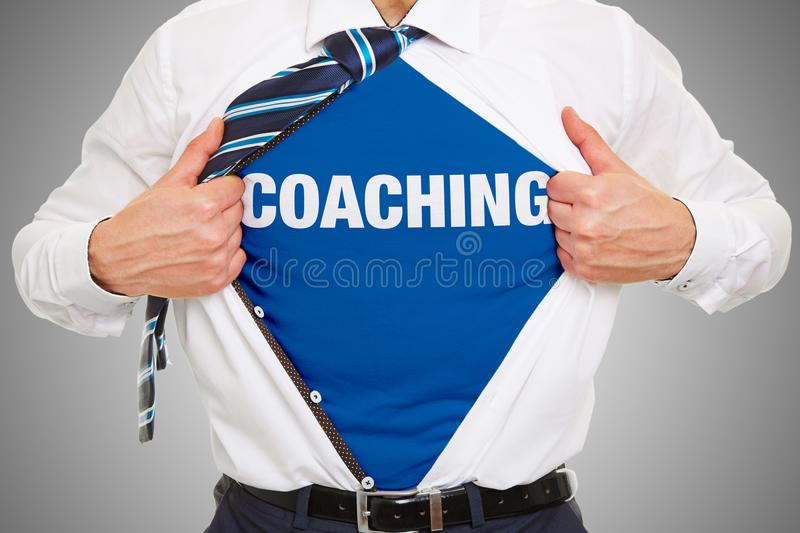 Business coaching or training concept royalty free stock images