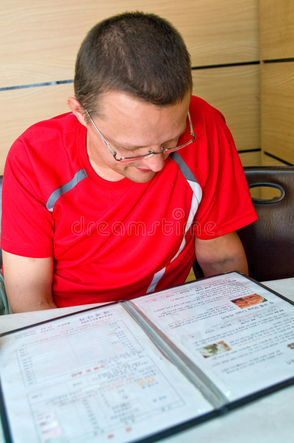 Man at asian restaurant