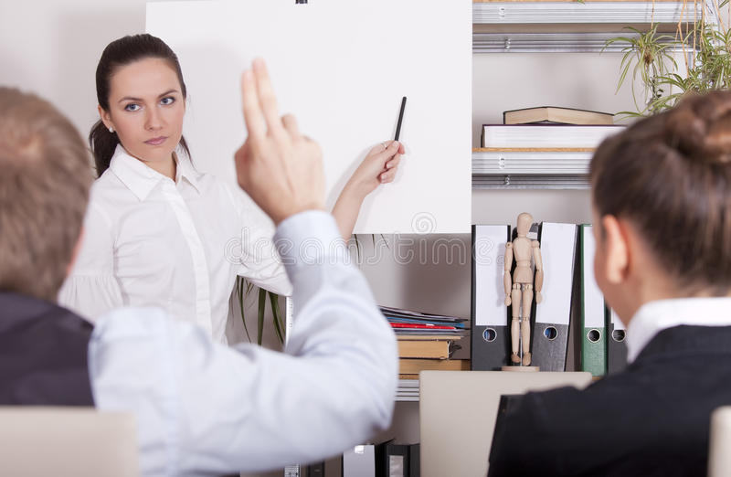 Download Man asking by conference stock photo. Image of talking - 11523568