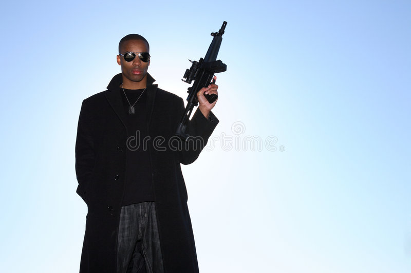 Download Man with assault rifle stock photo. Image of forces, enforcement - 4100396