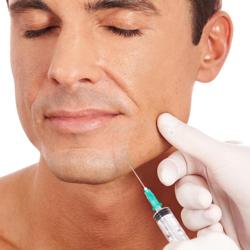 Free Man At Plastic Surgery Stock Image - 24863061