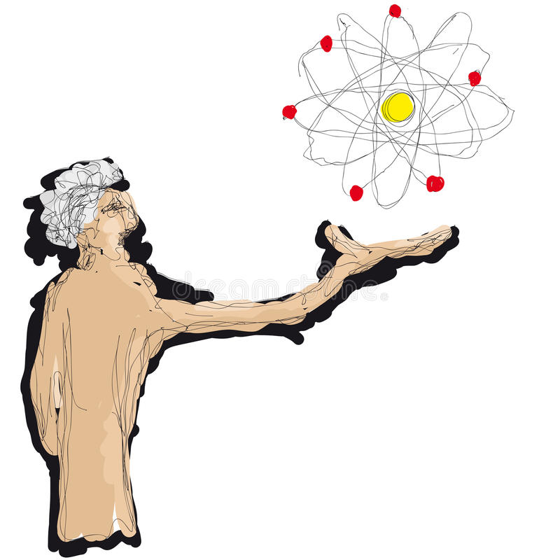 Download Man and atom stock vector. Illustration of scientist - 25799347