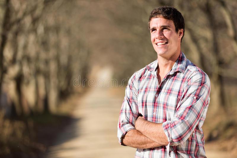 Man autumn country royalty free stock image