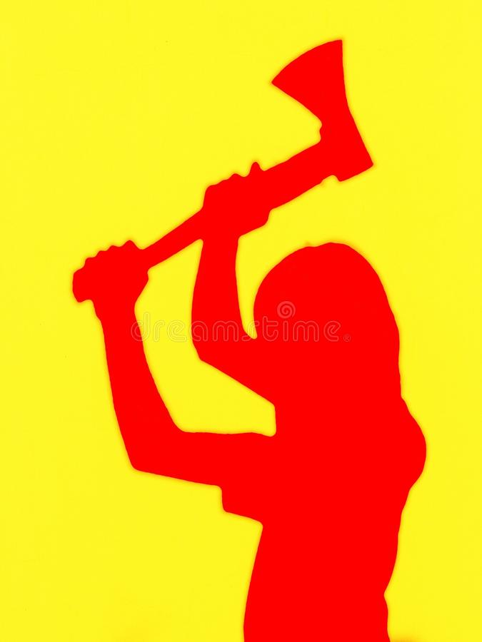 Man with the ax stock photo